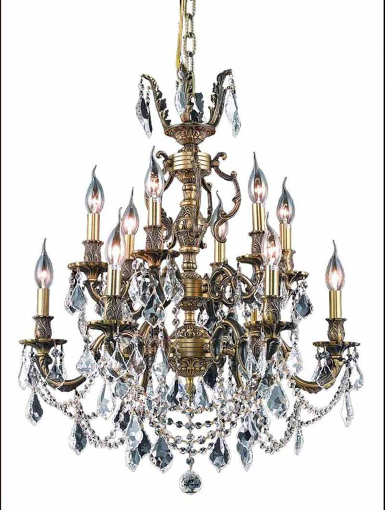 ZC121-9512D24AB/EC By Regency Lighting - Marseille Collection Antique Bronze Finish 12 Lights Dining Room