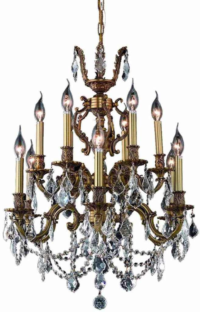 ZC121-9512D24FG/EC By Regency Lighting - Marseille Collection French Gold Finish 12 Lights Dining Room