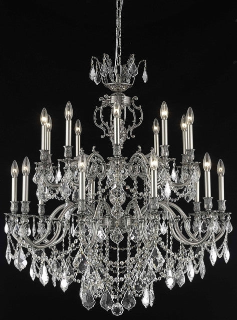 ZC121-9520G36PW/EC By Regency Lighting Marseille Collection 20 Light Chandeliers Pewter Finish