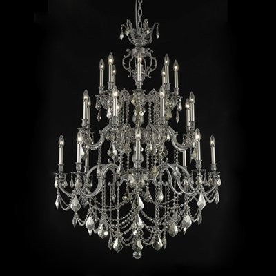 C121-9524G38DB-GS/RC By Elegant Lighting Marseille Collection 24 Lights Chandelier Dark Bronze Finish