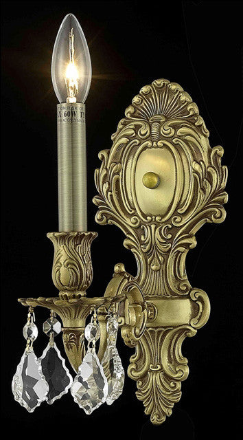 ZC121-9601W5FG/EC By Regency Lighting Monarch Collection 1 Light Wall Sconces French Gold Finish