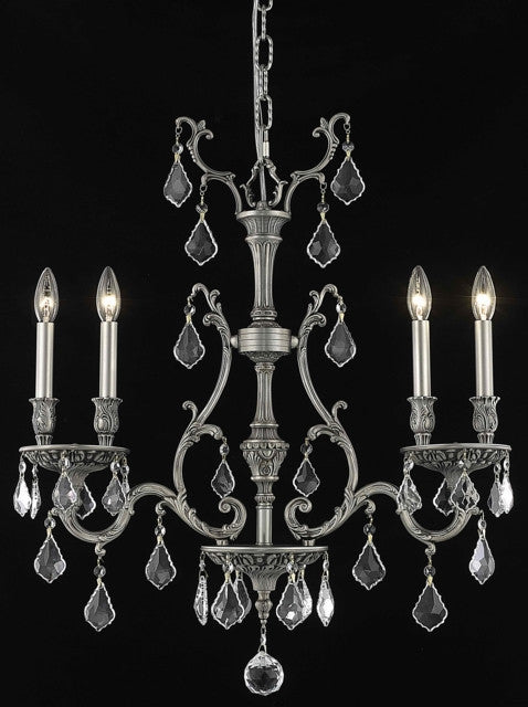 ZC121-9604D26PW/EC By Regency Lighting Monarch Collection 4 Light Chandeliers Pewter Finish
