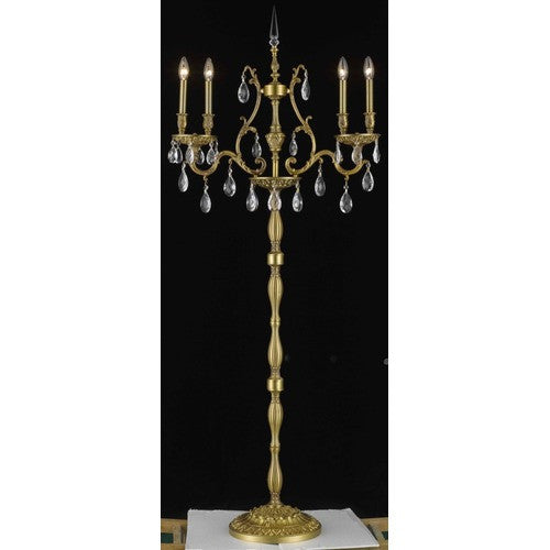 C121-9604FL26FG/RC By Elegant Lighting Monarch Collection 4 Lights Floor Lamp French Gold Finish