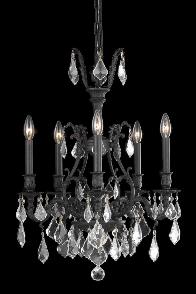 ZC121-9605D21DB/EC By Regency Lighting Monarch Collection 5 Light Chandeliers Dark Bronze Finish