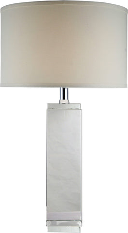 C121-TL1003 By Elegant Lighting - Regina Collection Chrome Finish 1 Light Table Lamp
