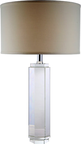 C121-TL1004 By Elegant Lighting - Regina Collection Chrome Finish 1 Light Table Lamp