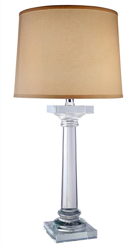 C121-TL1005 By Elegant Lighting - Regina Collection Chrome Finish 1 Light Table Lamp