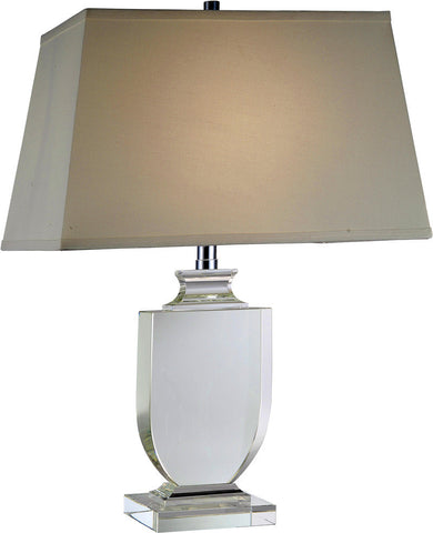 C121-TL1006 By Elegant Lighting - Regina Collection Chrome Finish 1 Light Table Lamp