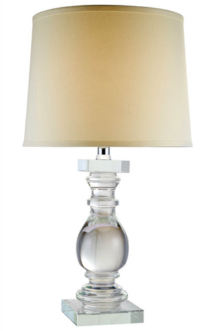 C121-TL1007 By Elegant Lighting - Regina Collection Chrome Finish 1 Light Table Lamp