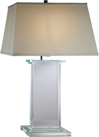 C121-TL1008 By Elegant Lighting - Regina Collection Chrome Finish 1 Light Table Lamp
