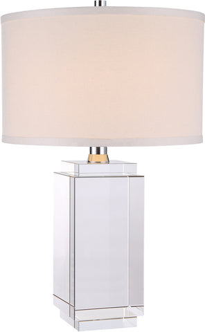 C121-TL1011 By Elegant Lighting - Regina Collection Chrome Finish 1 Light Table Lamp