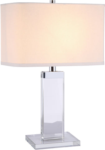 C121-TL1013 By Elegant Lighting - Regina Collection Chrome Finish 1 Light Table Lamp