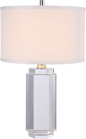 C121-TL1014 By Elegant Lighting - Regina Collection Chrome Finish 1 Light Table Lamp