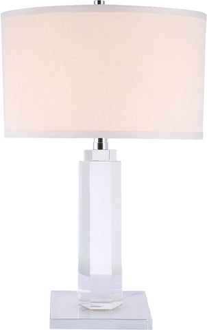 C121-TL1015 By Elegant Lighting - Regina Collection Chrome Finish 1 Light Table Lamp