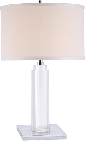 C121-TL1017 By Elegant Lighting - Regina Collection Chrome Finish 1 Light Table Lamp