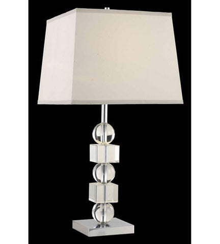 C121-TL101 By Elegant Lighting Grace Collection 1 Light Table Lamp Chrome Finish