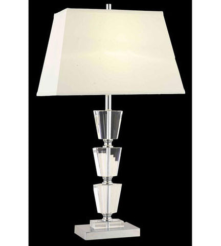 C121-TL112 By Elegant Lighting Grace Collection 1 Light Table Lamp Chrome Finish