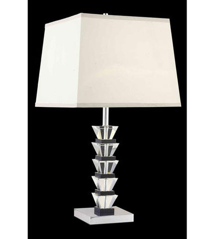 C121-TL113 By Elegant Lighting Grace Collection 1 Light Table Lamp Chrome Finish
