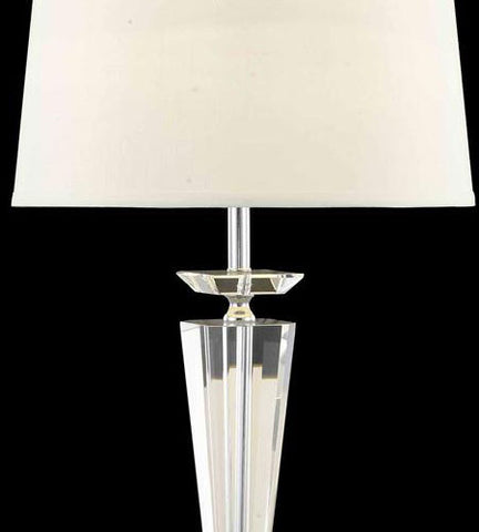 C121-TL114 By Elegant Lighting Grace Collection 1 Light Table Lamp Chrome Finish