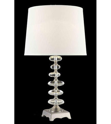 C121-TL115 By Elegant Lighting Grace Collection 1 Light Table Lamp Chrome Finish