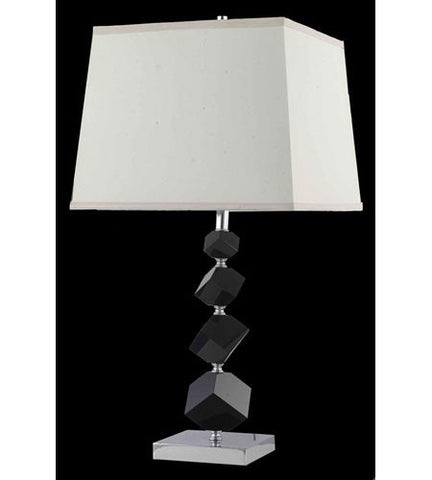 C121-TL116 By Elegant Lighting Grace Collection 1 Light Table Lamp Chrome Finish