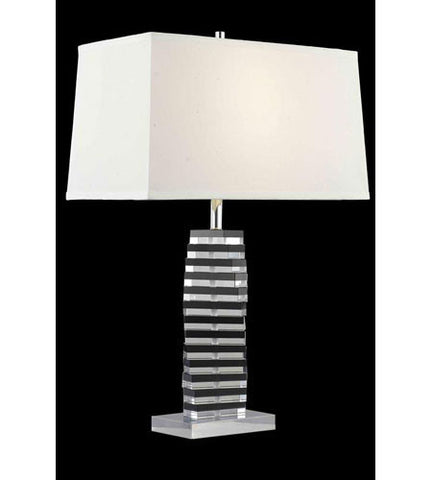 C121-TL117 By Elegant Lighting Grace Collection 1 Light Table Lamp Chrome Finish