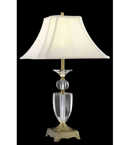 C121-TL120 By Elegant Lighting Grace Collection 1 Light Table Lamp Matte Aged Bronze Finish