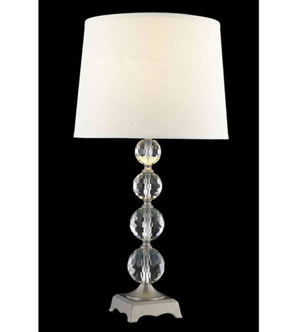 C121-TL122 By Elegant Lighting Grace Collection 1 Light Table Lamp Antique Silver Finish