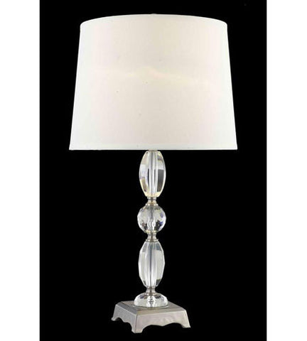 C121-TL123 By Elegant Lighting Grace Collection 1 Light Table Lamp Antique Silver Finish