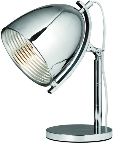 C121-TL1246 By Elegant Lighting - Industrial Collection Chrome Finish 1 Light Table Lamp