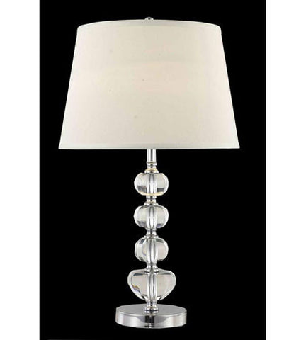 C121-TL124 By Elegant Lighting Grace Collection 1 Light Table Lamp Chrome Finish