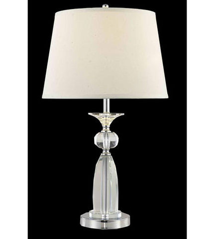 C121-TL125 By Elegant Lighting Grace Collection 1 Light Table Lamp Chrome Finish