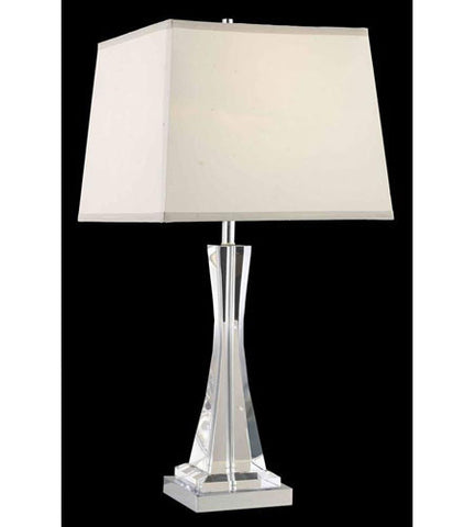 C121-TL126 By Elegant Lighting Grace Collection 1 Light Table Lamp Chrome Finish