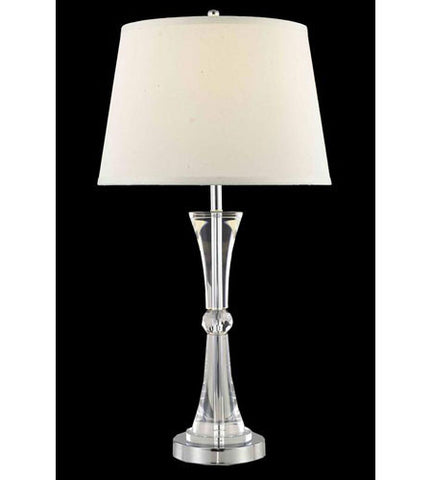 C121-TL127 By Elegant Lighting Grace Collection 1 Light Table Lamp Chrome Finish