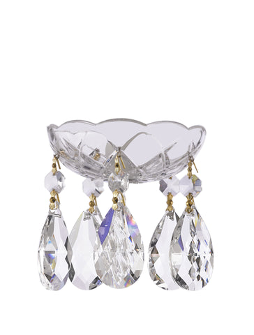 Asfour Chandelier Crystal 30% Lead Crystal Bobeche Bobache Lamp Chandelier Parts Cups with Lead Tear Drop Crystals CC-AS-103/100G+5EARC872+1-2-CL-G