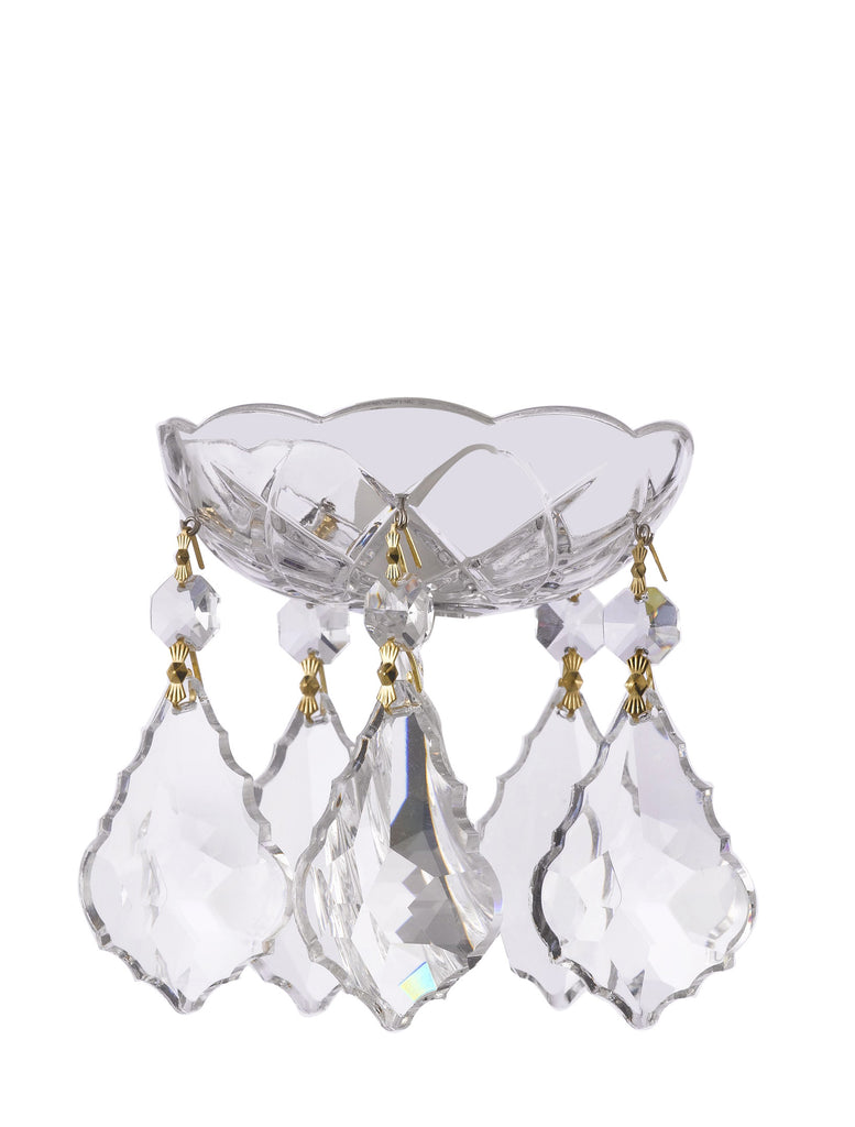 "Asfour Chandelier Crystal 30% Lead Crystal Bobeche Bobache Lamp Chandelier Parts Cups with 2.5"" High Quality 30% Lead French Pendant Crystals CC-AS-103/100G+5EACC-RC911+1-2.5-CL-G"