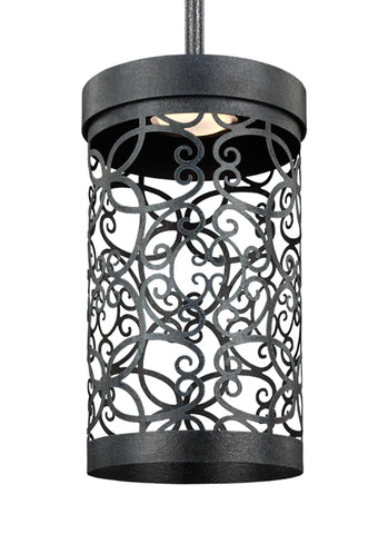 Murray Feiss 1 - Light Outdoor LED Mini-Pendant Dark Weathered Zinc - C140-P1419DWZ-LED