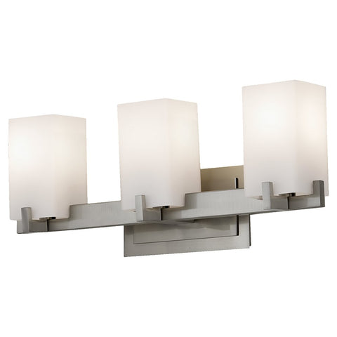 Murray Feiss 3 Bulb Brushed Steel Vanity Strip - C140-VS18403-BS