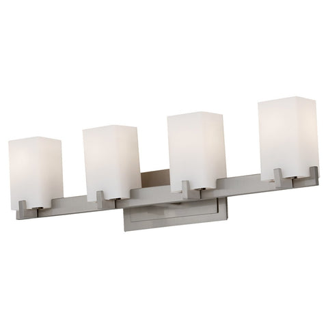 Murray Feiss 4 Bulb Brushed Steel Vanity Strip - C140-VS18404-BS