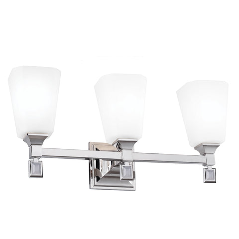 Murray Feiss 3 Bulb Polished Nickel Vanity Strip - C140-VS47003-PN