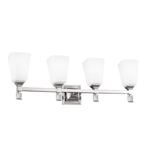 Murray Feiss 4 Bulb Polished Nickel Vanity Strip - C140-VS47004-PN