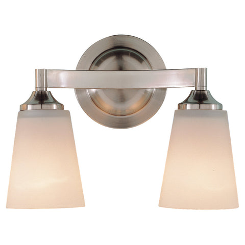 Murray Feiss 2 Bulb Brushed Steel Vanity  - C140-VS9402-BS