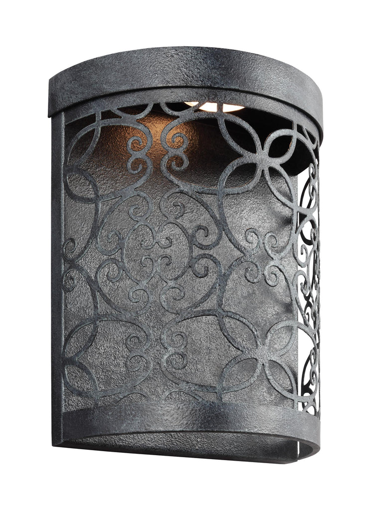Murray Feiss 1 - Light Outdoor LED Wall Lantern Dark Weathered Zinc - C140-WB1814DWZ-LED