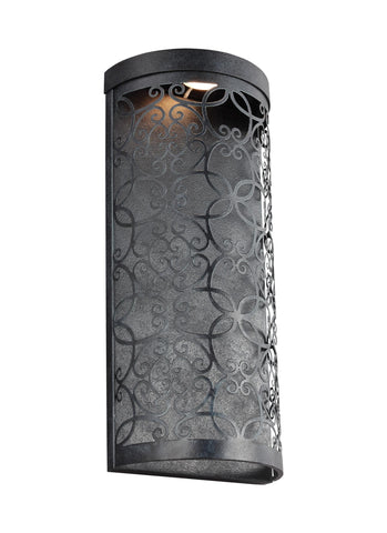 Murray Feiss 1 - Light Outdoor LED Wall Lantern Dark Weathered Zinc - C140-WB1815DWZ-LED