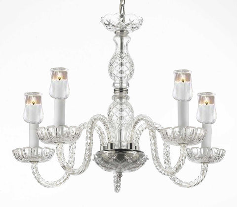 "Murano Venetian Style Chandelier Lighting With Votive Candles Hearts H 25"" W 24"" - For Indoor / Outdoor Use Great For Outdoor Events Hang From Trees / Gazebo / Pergola / Porch / Patio / Tent - G46-B31/B11/384/5"