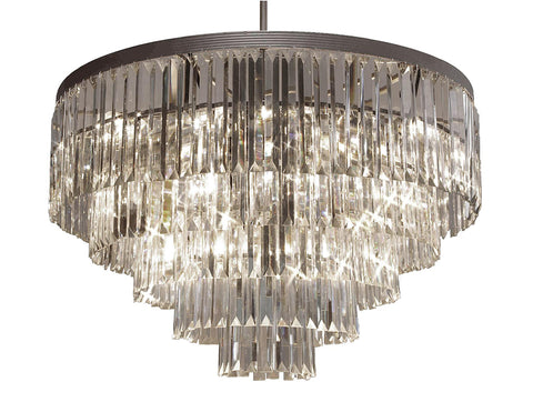 "Palladium Empress Crystal (Tm) Glass Fringe Chandelier Lighting H 26"" W 31.5"" - G7-1157/17"