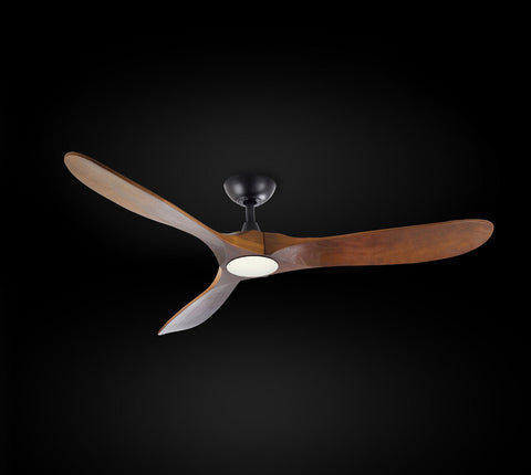 Indoor/Outdoor Ceiling Fan - Vintage Rustic Propeller Wood Indoor/Outdoor Ceiling Fan - G7-18/15/4561/52L