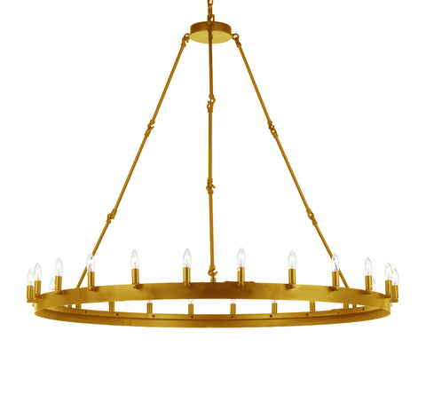Wrought Iron Vintage Barn Metal Castile One Tier Chandeliers Industrial Loft Rustic Lighting - G7-CG/3428/24