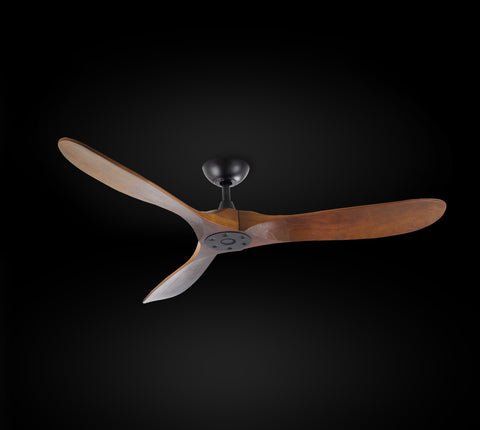 "Indoor/Outdoor Ceiling Fan - Vintage Rustic Propeller Wood Indoor/Outdor Ceiling Fan -  52"" Diameter G7-18/15/4561/52"