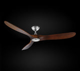 "Indoor/Outdoor Ceiling Fan - Vintage Rustic Propeller Wood Indoor/Outdoor Ceiling Fan -  60"" Diameter - G7-19/17/4561"